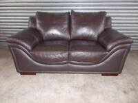 Large Brown Leather 2-seater Sofa (Suite)