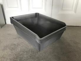 5x IKEA KOMPLEMENT Mesh basket with pull-out rail, dark grey 50x58cm drawer