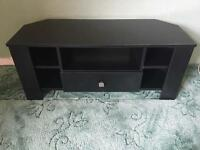 Black TV Entertainment Corner Unit
