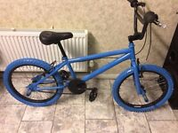 """BOYS KIDS CHILDREN FULL BLUE 20"""" WHEEL BMX BIKE BICYCLE All tyres are Pumped solid."""