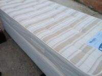 Small single divan bed with mattress (80 cm width)