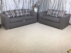 ** 1 YEAR WARRANTY ** BRAND NEW JADE 3+2 SOFA ON SPECIAL OFFER
