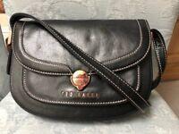 TED BAKER Black Leather Cross Body Handbag
