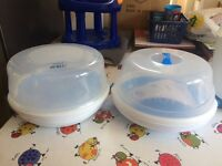 Baby sterilisers/breast pumps/baby baths/seats