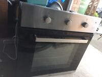 Bush built in single oven in black and silver! 60 cm wide