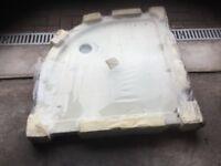 900m x900m resin slimline quadrant shower tray not been used.still in wrapper.