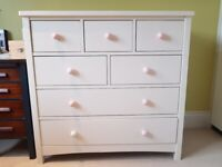 Childrens' Ivory/White Noah Chest of 7 Drawers from Feather and Black