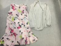 Girl river island dress and Zara cardigan age 4-5 years