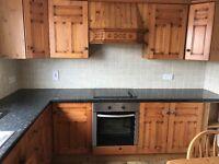 Kitchen for sale including fridge/freezer, hob, oven+sink