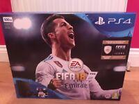 PS4 Jet Black 500gb + FIFA 18 (brand new & sealed)