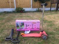 Mini Micro Pink Scooter with seat, box & instructions