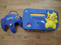 Pikachu N64 with a couple of Games OFFERS CONSIDERED