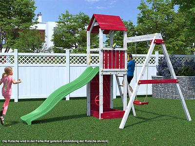 """Spielturm """"Flappi"""" SPARSET Spielhaus Stelzenhaus Haus für Kinder inkl. Rutsche"""