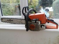 "Stihl ms250 18"" petrol chainsaw"