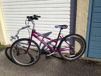 """Ladies Mountain Bike, Crystal Venture, 26"""" wheels, 18 speed, thumbshifter"""