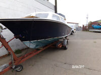 GRP Fast Fisher, cabin cruiser 20ft with trailer
