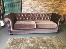 2 velvet chesterfield sofas / can deliver