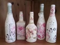 Shabby Chic Workshop - Decoupage Bottles - Tues 30th Aug 10am-1pm
