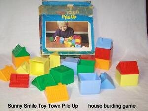 Vintage, Toy Town Pile Up plastic house building toy, England