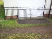 """USED PAIR OF METAL GATES , MATCHING PAIR , 1.76M (69 1/4"""" INCHES) LENGTH , 870MM (34 1/4"""" INCH) HIGH"""