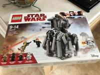 Brand new Boxed Star Wars lego 75177 First Order Heavy Scout Walker RRP£50