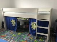Stompa Play 2 White Mid Sleeper kids bed with mattress