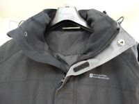 Mountain Warehouse Glacier Extreme Mens Long Waterproof Jacket - size small Black