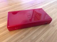 Nintendo DS Lite rare red edition, includes charger and carry case