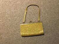 Small gold glitter evening bag