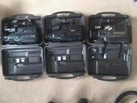3x Panasonic vhs movie camera