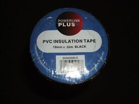 ELECTRICAL ELECTRICIAN'S SPARKS BLACK INSULATING TAPE 19MM X 20M (10 PACK)
