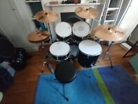 Mapex Horizon and Paiste PST5 Full Kit and Sound Dampeners