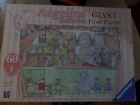 Angelina Ballerina large floor puzzle and mouse doll