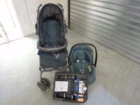 Mamas and Papas Pliko Pramette Travel System, Primo Viaggio IP Car Seat , SureFix Base