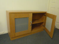 Habitat wooden sideboard with frosted glass doors