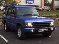 2003 LANDROVER DISCOVERY 4.0 V8 * AUTO * ELECTRIC BLUE * LEAHTER * SUNROOF * PART EX * DELIVERY *