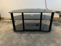 Black Gloss/ Chrome Glass TV unit