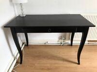 Elegant IKEA desk in dark brown