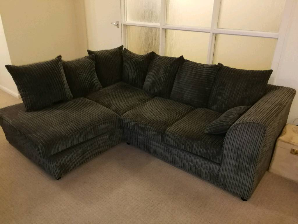 Corner sofa n swivel cuddle chair