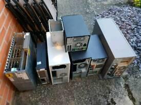 Computer cases for scrap metal