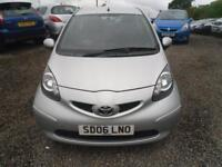 TOYOTA AYGO 1.4L + 3dr �20 A YEAR ROAD TAX. NICE WEE DIESEL 1.4 3 DOOR NOW �1350 (silver) 2006