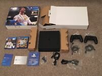 PlayStation4 500gb (in excellent condition) + extra controller + Fiifa 18 + GTA 5