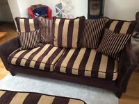Matching pair large 3 and 2 seat sofas