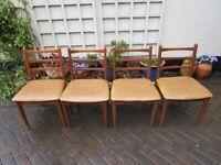 Set Four Schreiber Dining chairs Mid Century