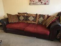 DFS sofa 4 seater. Very comfortable. Includes single arm chair