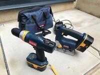 Ryobi Hammer Drill and Jigsaw Cordless Set