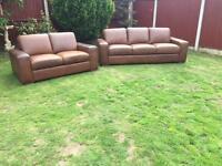 Natuzzi Italian leather superior sofas 3&2 seater £3k new can deliver