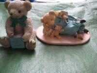 Two Teddy Bear Figurines - £5.00 Each