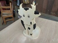 Wooden Cow Kitchen Roll Holder Delivery Available