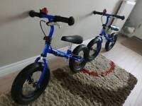 x2 Stompee Balance Bikes